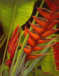 Heliconia 3, an Oil Painting on Canvas by Linda Amundsen