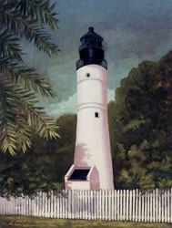 Key West Lighthouse, an Oil Painting by Linda Amundsen